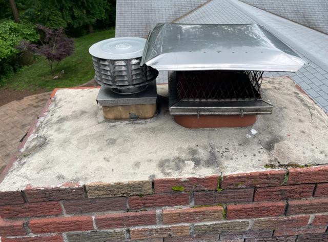 Cracked Chimney Gets Sealed in Hazlet, NJ