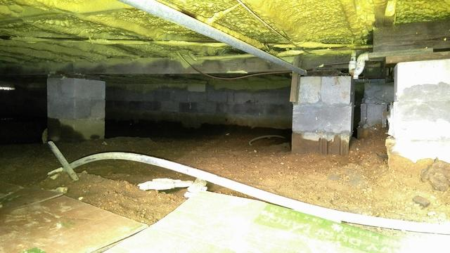 Crawl space repair transformation in Toms River