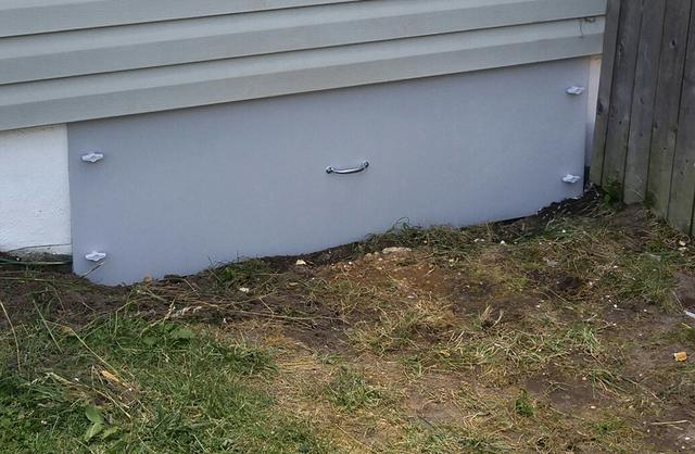 Crawl space vent replaced with Everlast Door in Toms River