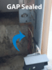 Large gap provides easy entry for mice - Mice removal and control in Hazlet