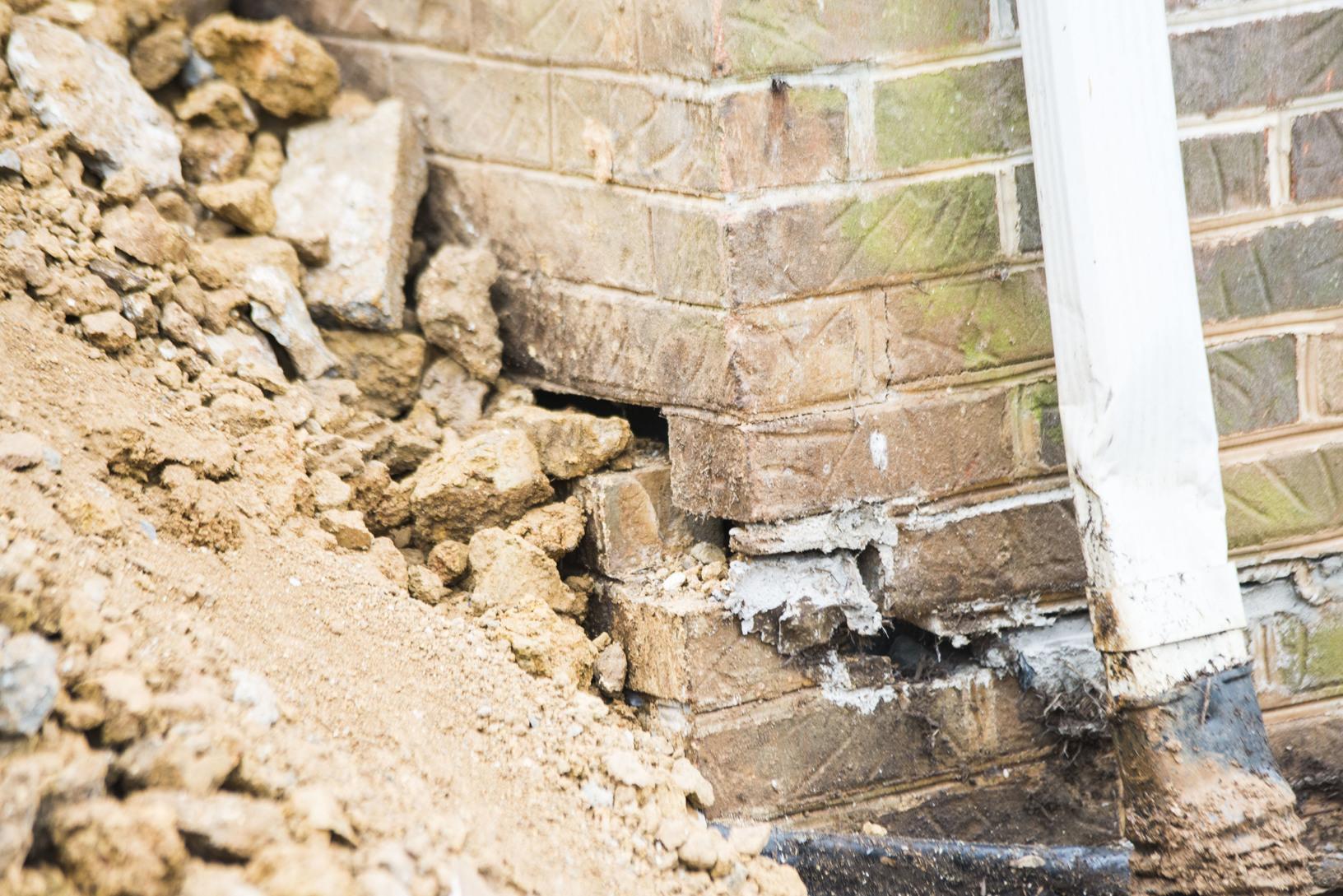 Foundation Repair in Hampton, TN - Before Photo