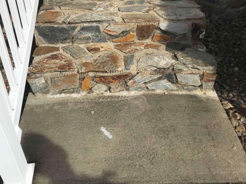 Lifting a Sidewalk in Afton, TN - Before Photo