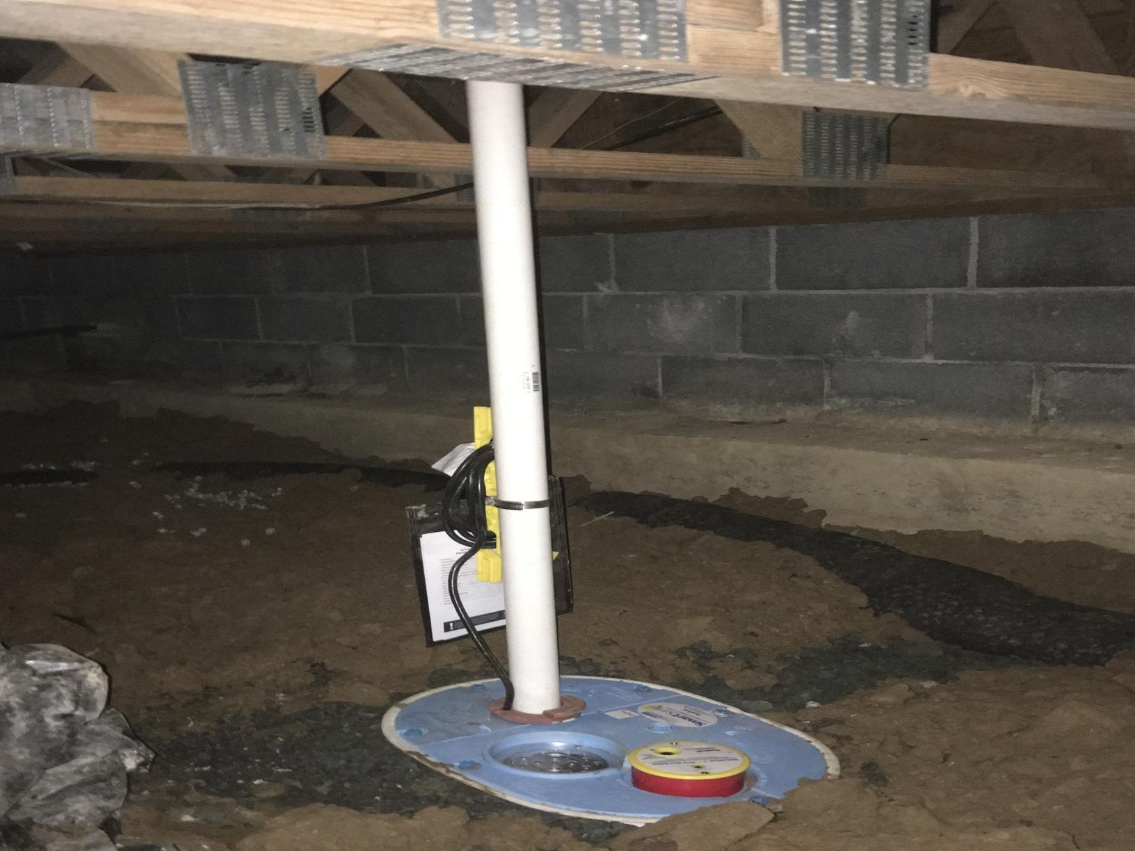 Installing a Crawlspace Sump Pump in Hurley, VA - After Photo