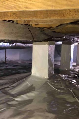 Waterproofing and Brightening a Grandview, TN Crawlspace
