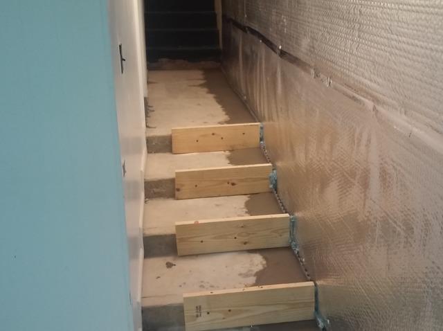 Installing ThermalDry Basement Radiant Wall Barrier Near Nickelsville, VA