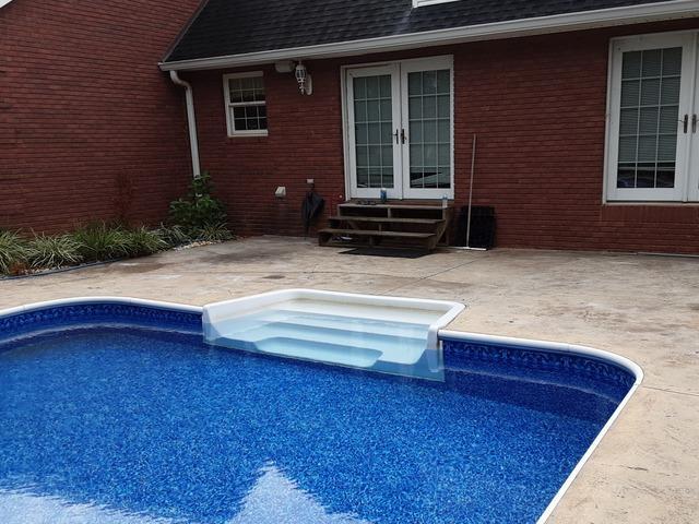 Raising a Pool Deck Near Ocoee, TN