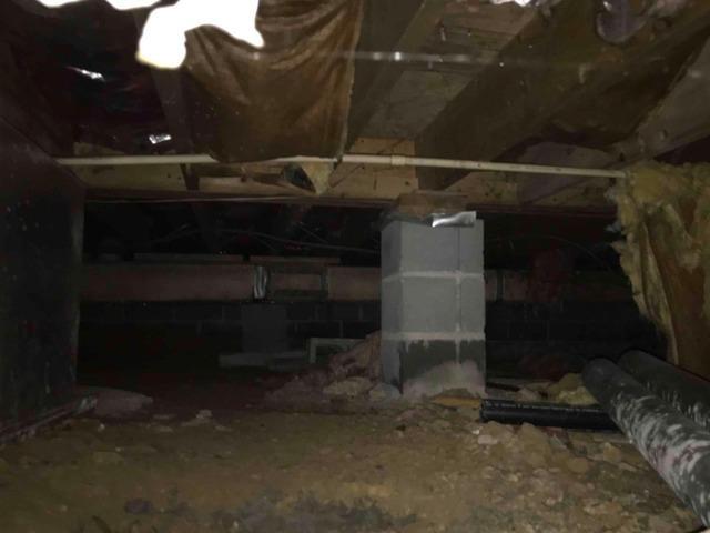 Lifting a Sagging Crawlspace Near Saint Paul, VA