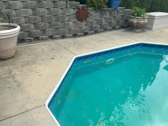 Lifting a Pool Deck Near Altamont, TN