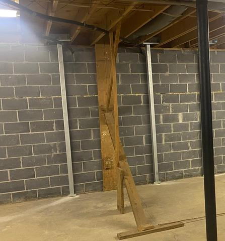 Fixing a Bowed Wall Near Blackwater, VA