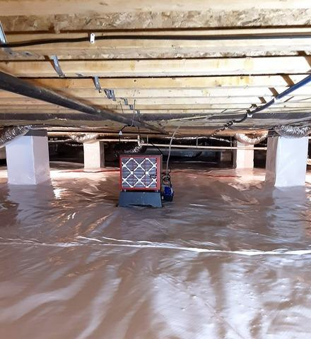Getting Mold Out of a Crawlspace Near Beersheba Springs, TN
