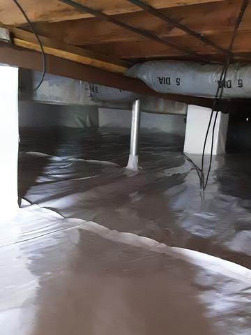 Basement Waterproofing Near Amonate, VA - After Photo