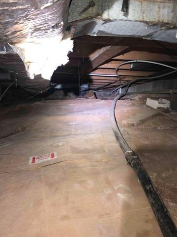 Encapsulating a Crawlspace Near Broadford, VA - Before Photo