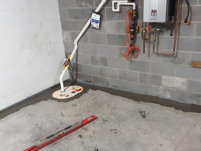 Waterproofing a Basement Near Richlands, VA - After Photo