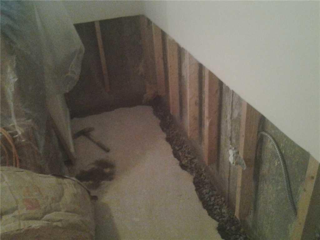 New Basement Wall Panels in Staten Island, NY - Before Photo