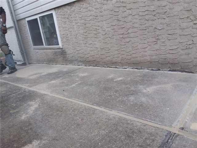 Side Concrete  Patio Raised with PolyLevel - After Photo