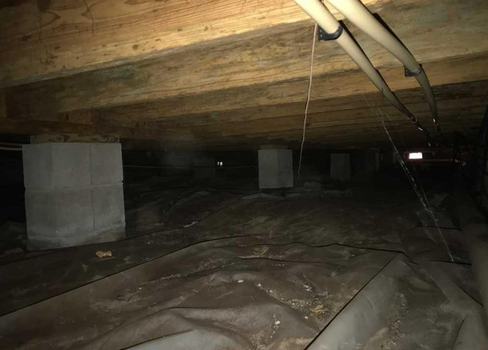 Crawl Space Encapsulation in Moultrie, GA - Before Photo