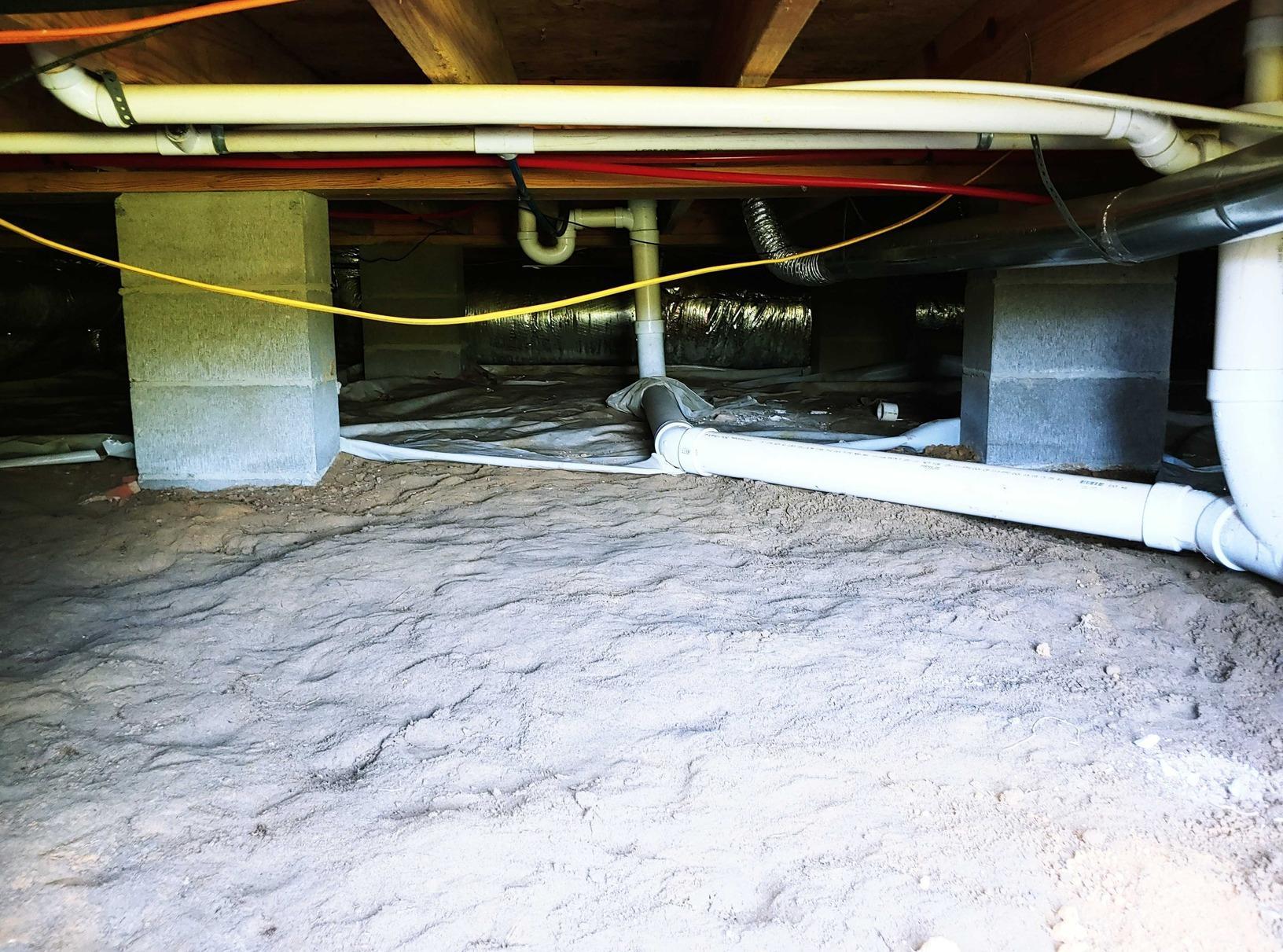 Crawl Space Encapsulation in Rebecca, FL - Before Photo