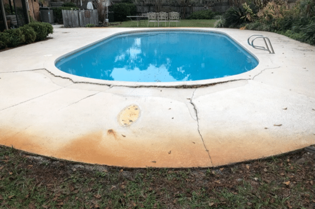Pool Deck Repair in Douglas, GA - Before Photo