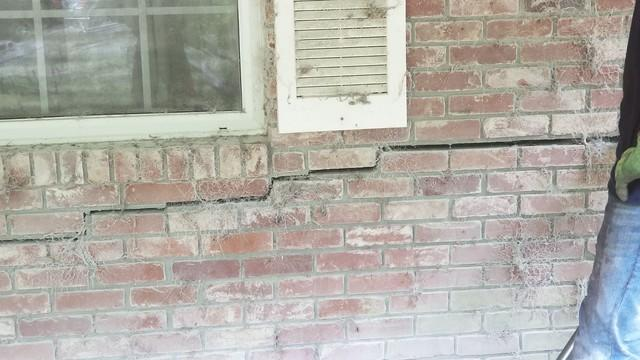 Brick Wall Stair-Step Crack Repair in Grand Ridge, FL