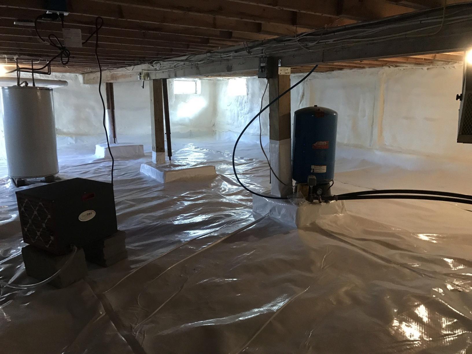 Crawlspace Encapsulation- Gouldsboro, Pa - After Photo