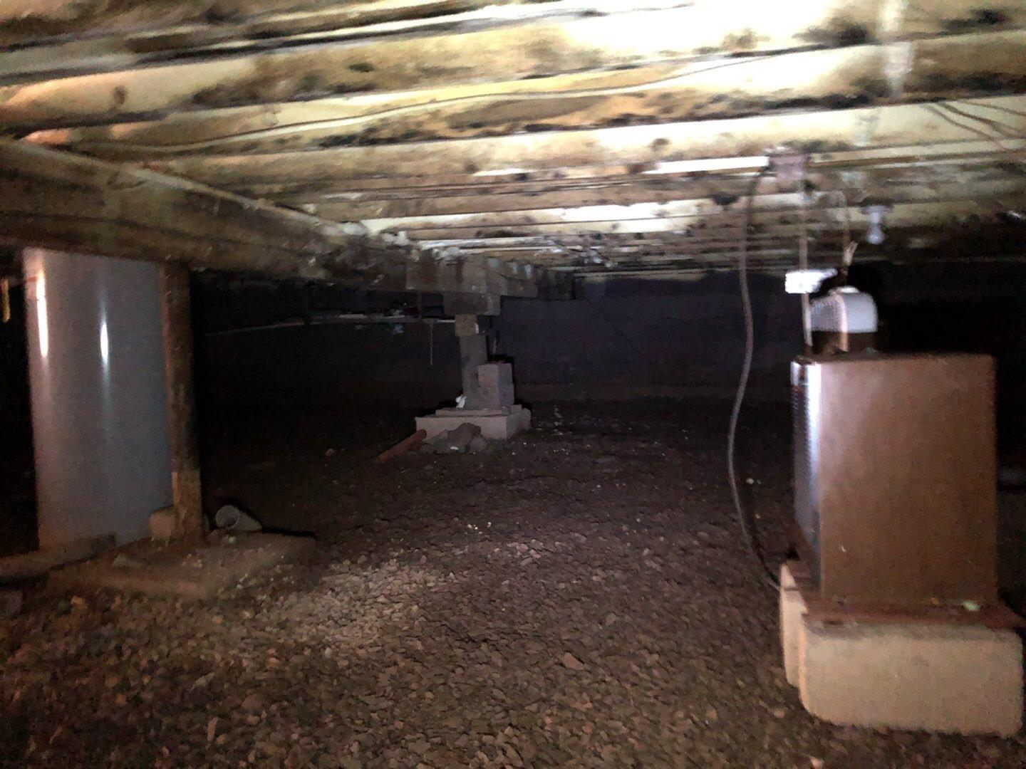 Crawlspace Repair- Mountain Top, Pa - Before Photo
