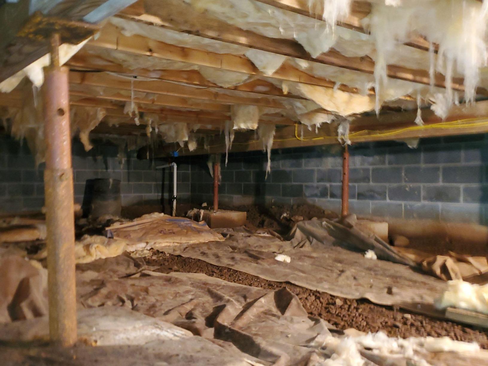 Crawlspace Repair- Hellertown, Pa - Before Photo