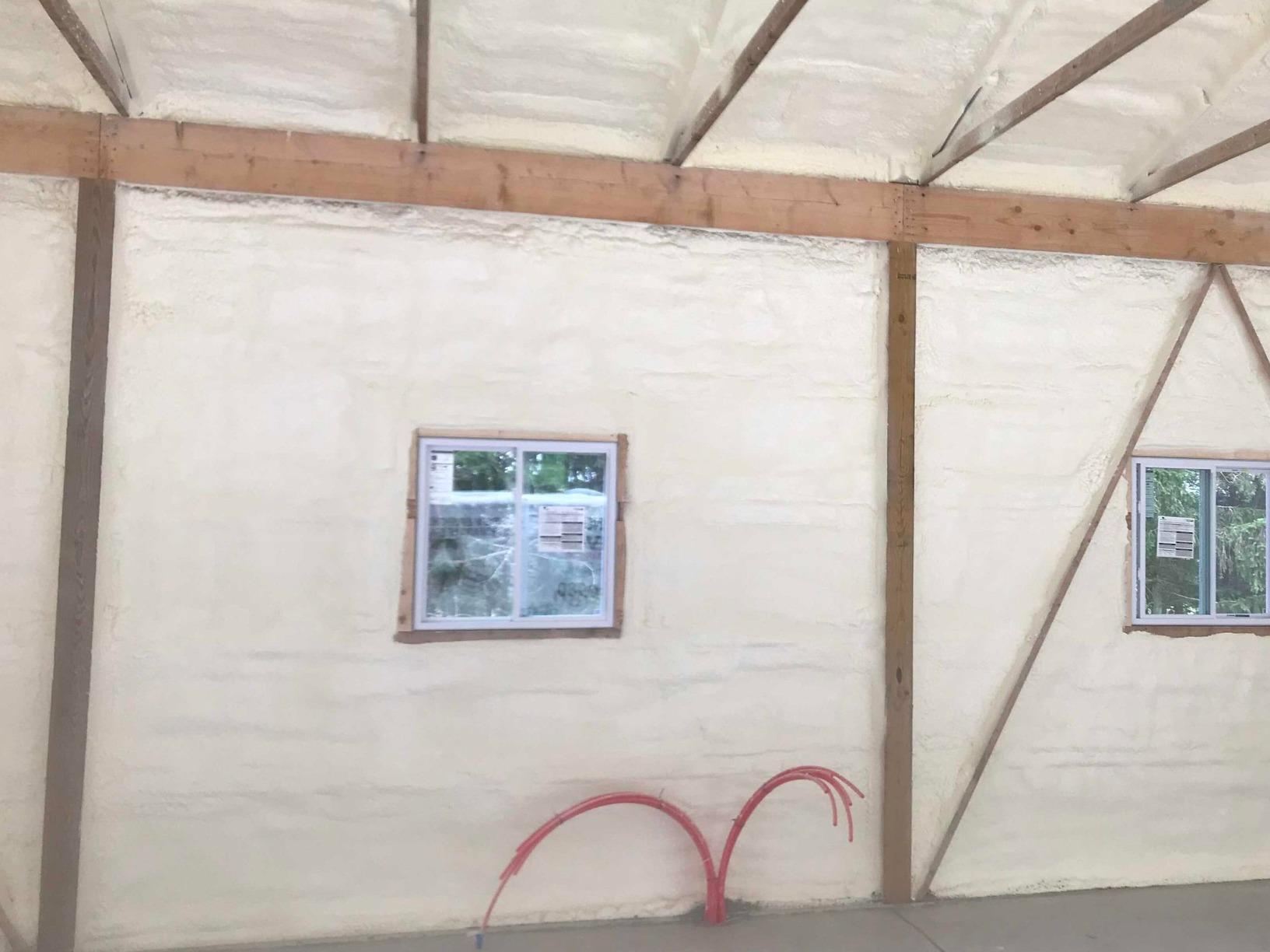 Pole Barn Insulation- Newfoundland Pa - After Photo