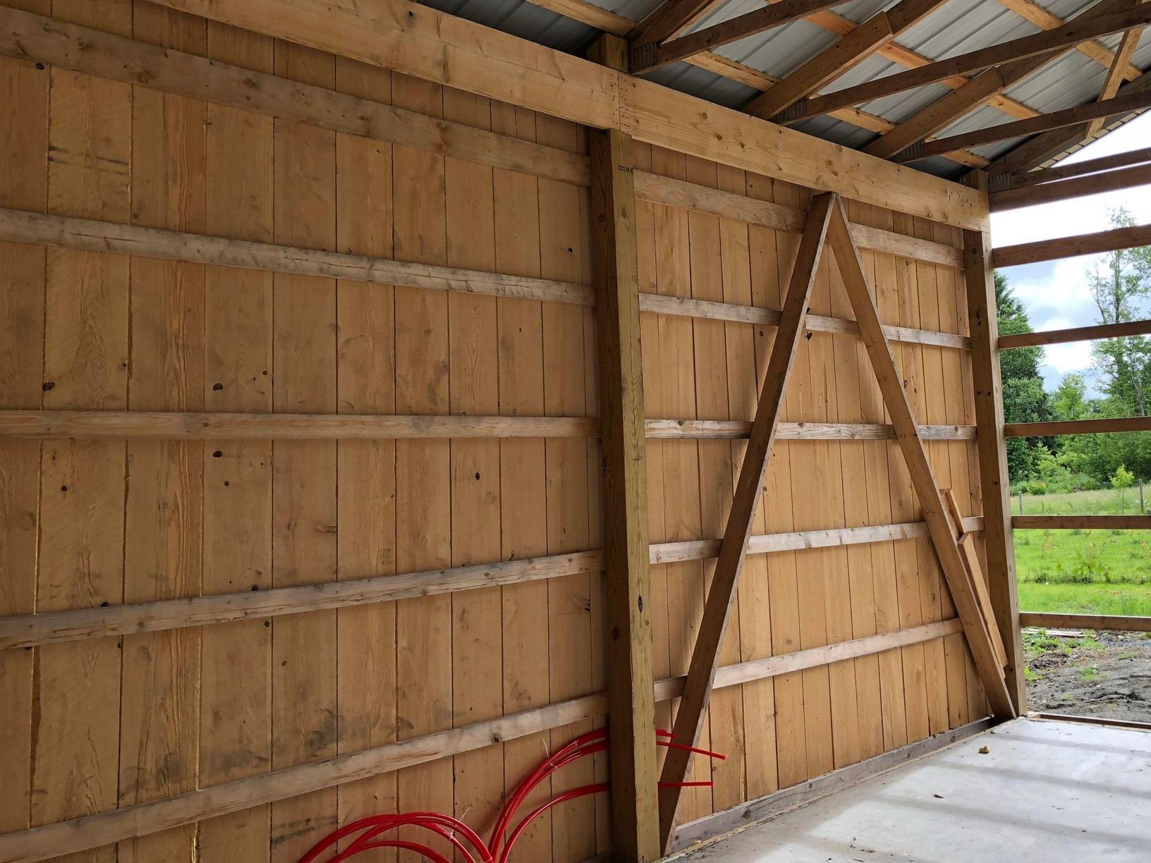 Pole Barn Insulation- Newfoundland Pa - Before Photo
