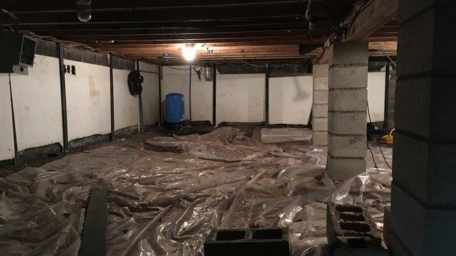 Crawlspace Insulation in Palmerton, NJ - Before Photo