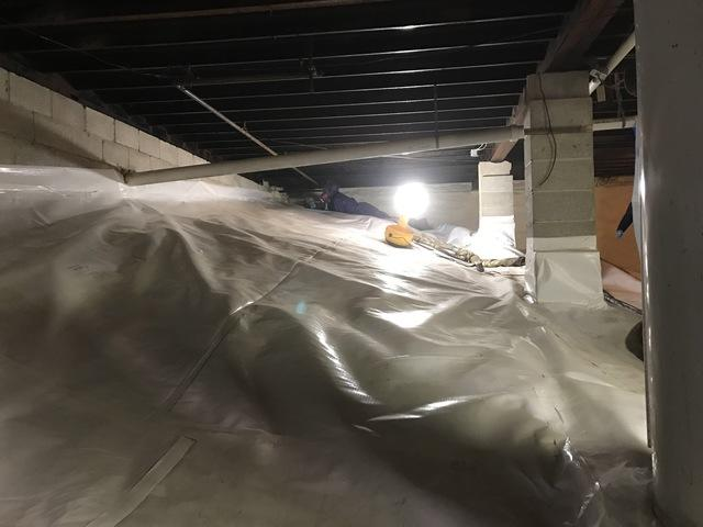 Giant Crawlspace Encapsulation in Delaware Water Gap, PA - After Photo