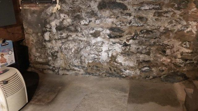 Sealing a Stone Foundation with Spray Insulation- Northampton County, PA - Before Photo