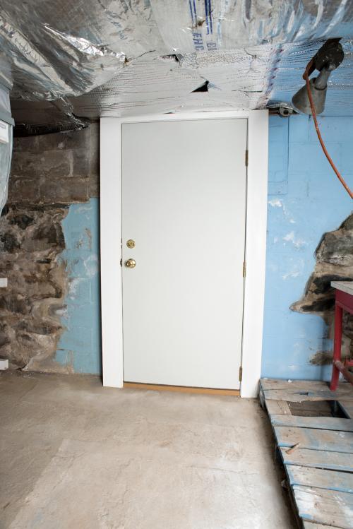 New Basement Door Installation - After Photo