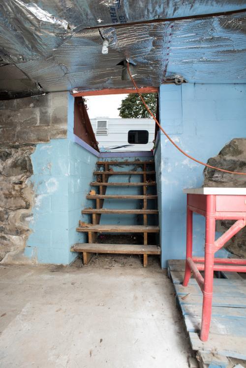 New Basement Door Installation - Before Photo