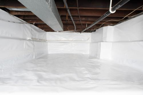 Crawl Space Vapor Barrier Installation - After Photo