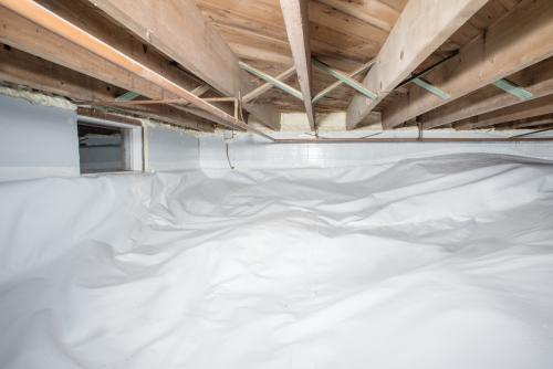 Crawl Space Insulation & Vapor Barrier Installation - After Photo