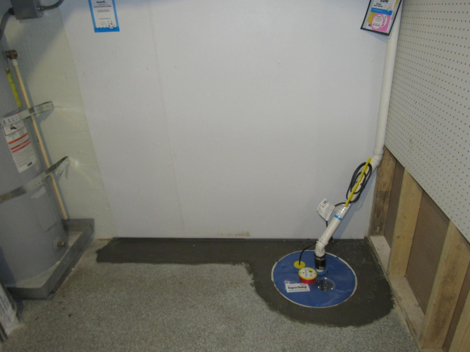 Basement Waterproofing and SumpPump Installation - After Photo