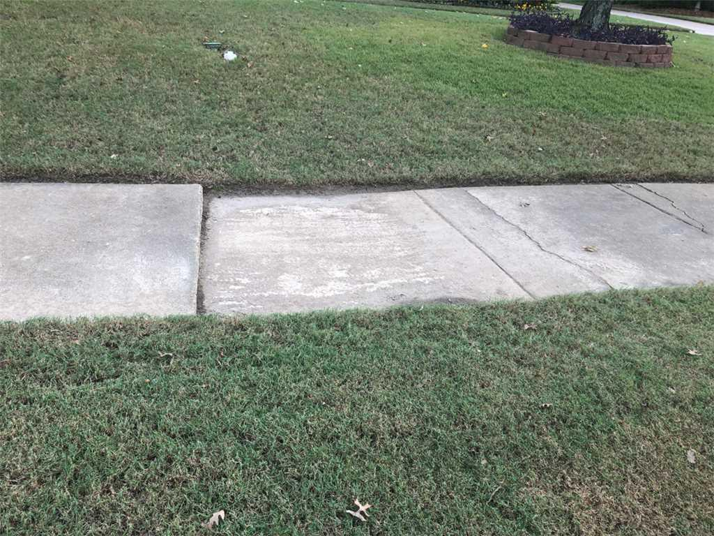 Sidewalk Facelift in Collierville, TN! - Before Photo