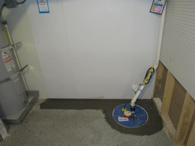 Basement Waterproofing and SumpPump Installation