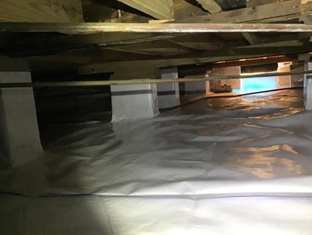 Full Crawlspace Encapsulation in Ashland Mississippi - After Photo