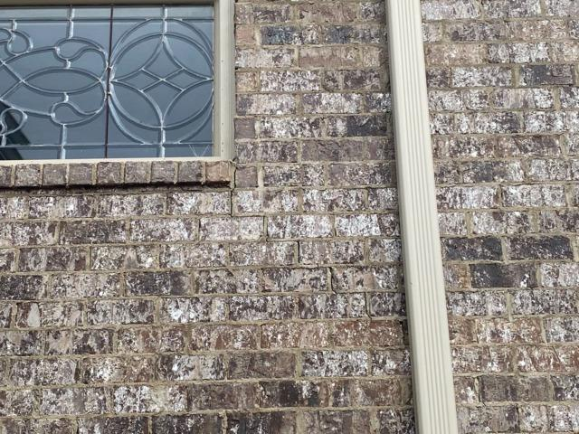 Piering Project in Corinth Mississippi Cures Cracks in Brick Wall
