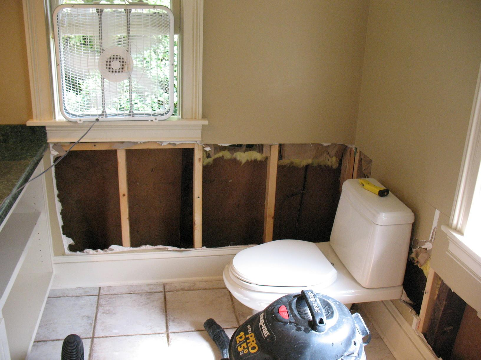 Historic Home bathroom repair - Before Photo