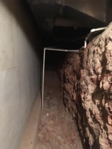 Wet & Narrow Crawl Space in Bella Vista, AR
