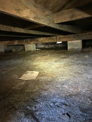 Nasty Crawlspace encapsulated in Jacksonville, Arkansas