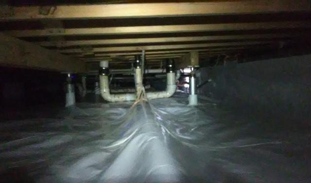 Wet Crawl Space Under Morrilton, AR Home