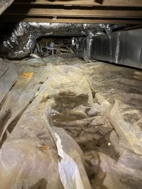 Dirty Crawl Space in Cherokee Village Ar