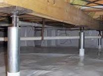 Fixing sagging floors in a Crawl Space in Brookland Ar