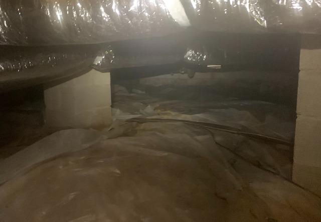 Moisture in Crawl Space of Cherokee Village, Arkansas Home