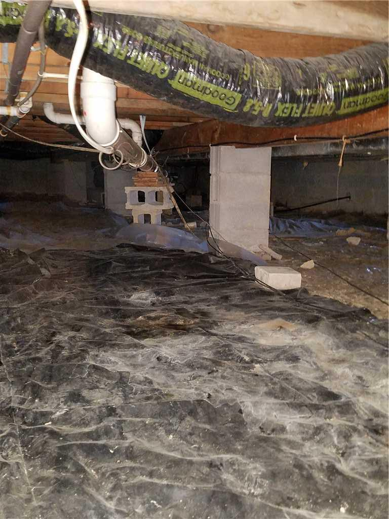 Crawlspace Waterproofing in Greenup, KY - Before Photo