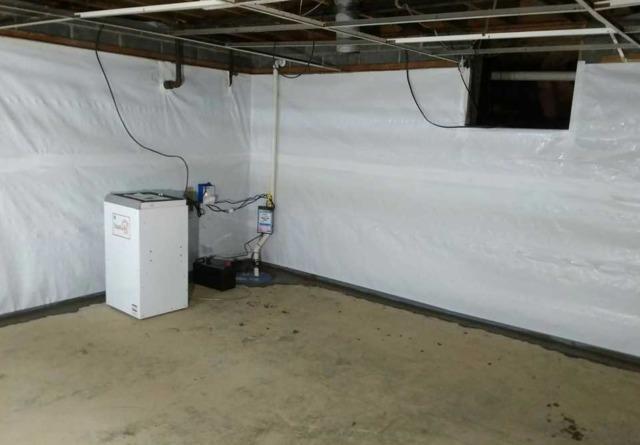 Basement Waterproofing Project in Alum Creek, WV
