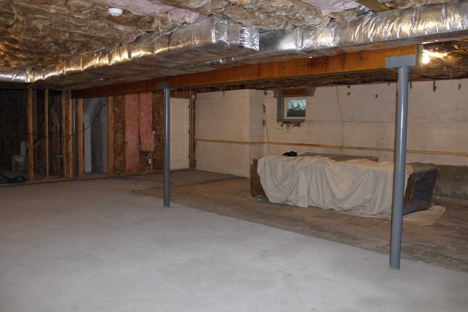Stunning Bangor, ME Basement Remodel - Before Photo